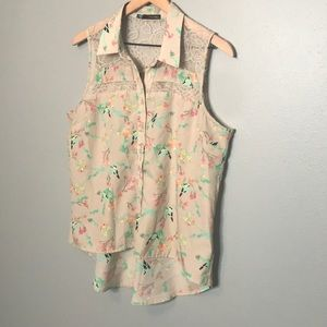 Maurices | light pink button down tank top size L